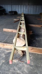 ladder for the chainsaw mill